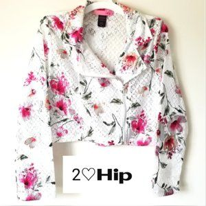 2 Hip Metallic Floral Jacket NWT! Size 14